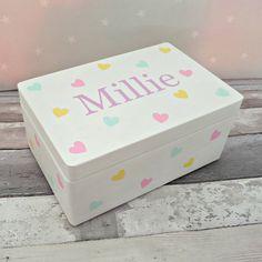 // PERSONALISED Baby Girl Keepsake Box Inkless Kit B1
