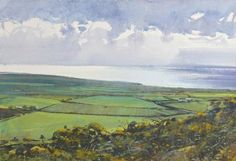Lands End from Chapel Carn Brea West Cornwall, Landscape Drawings, Lands End, Watercolour, Artworks, Backdrops, English, Paintings, Google Search