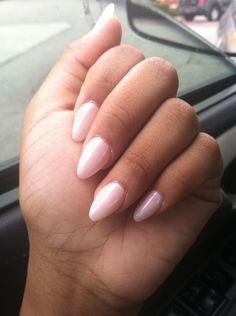 Soft pink nails for a wedding