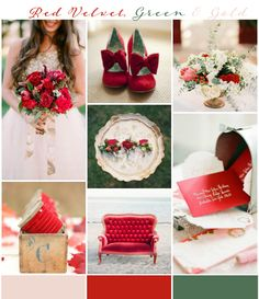 Red Velvet, Gold & Green Wedding Inspiration & Ideas see more at http://www.wantthatwedding.co.uk/2015/01/11/red-velvet-gold-green-wedding-inspiration-ideas/