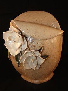 Handbuilt Magnolia Vase