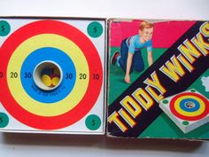 Vintage Tiddly Winks Board Game 1960s by WylieOwlVintage on Etsy, $7.50