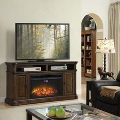 Better homes and gardens ashwood road media fireplace for tvs up to 45 gardens electric for Better homes and gardens fireplace tv stand
