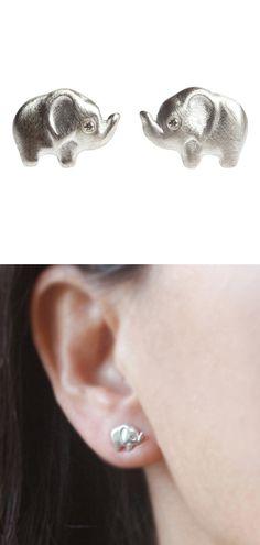 Elephant diamond earrings