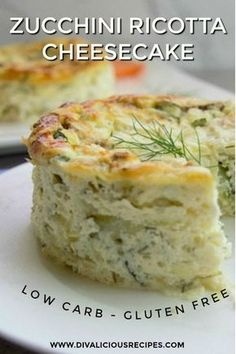This zucchini ricotta cheesecake is a delicious savoury dish served either cold or from the oven. A delicious low carb and gluten free dish as an alternative to a quiche. Use 2 Bake about 40 minutes, keep in the oven for 15 minutes. Gluten Free Recipes, Low Carb Recipes, Vegetarian Recipes, Cooking Recipes, Ricotta Recipes Healthy, Mexican Recipes, Zucchini Ricotta Recipe, Healthy Cooking, Recipes Using Ricotta Cheese