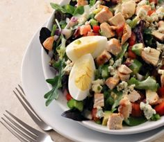 Chicken lime cobb salad from The Fiber 35 diet