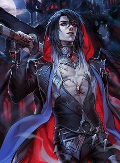 Fantasy Demon, Fantasy Male, Dark Fantasy Art, Hot Anime Boy, Cute Anime Guys, Anime Boys, Character Inspiration, Character Art, Male Vampire