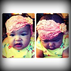 Adorable!!! Baby Samone is too cute in her vintage headband!