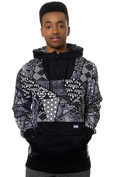 The Fuji Bandana Hoodie in Black by RockSmith