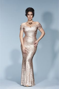 aee201fb19e1 Fatale Sequin Gown Gold Sequin Gown, Gold Sequins, Gold Dress, Feminine  Dress,