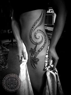Polynesian Tattoo for women by Samuel Morgan Shaw - 70+ Awesome Tribal Tattoo Designs