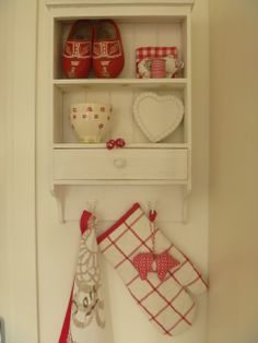 love the red wooden shoes...