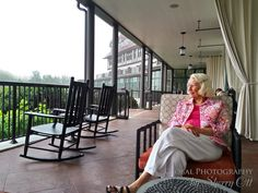 Algonquin porch – grab a chair and relax with a drink.