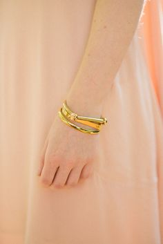 The golden curve bangle is a Moorea Seal fave! Really into the seamless clasp and slightly oval shape.