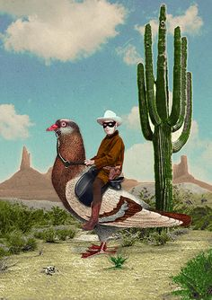 The Pigeon Ranger #collage #art #illustration #graphisme
