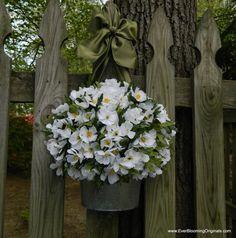 ... Wreath - White Wreath - Flower Pail - Door Decor - Front Door Wreath1485 x 1500 | 564.5KB | www.etsy.com