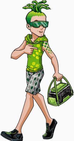 Deuce Gorgon Scaris: City of Frights Monster High Illustration Monster High Wiki, Monster High Boys, Monster High Pictures, Monster High Characters, Monster High Birthday, Cartoon Characters, Cartoon Pics, Cartoon Art, Cartoon People