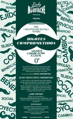 """Os presentamos """"BIGOTES COMPROMETIDOS"""". Cuéntanos tu proyecto solidario y te ayudamos a poner su comunicación en marcha totalmente gratis! Más info en - http://ladymoustache.es/bigotes_comprometidos.html"""
