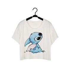 Fashion Emprie Women Harajuku Casual Crop Tops Short Sleeve Printed T Shirt (One Size, Stitch) Fashion Emprie http://www.amazon.com/dp/B013Q9I9QS/ref=cm_sw_r_pi_dp_2vPdxb15R79E1