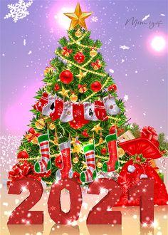 Christmas Tree Gif, Christmas Scenery, Merry Christmas Images, Merry Christmas And Happy New Year, Christmas Pictures, Christmas Time, Christmas Decorations, Merry Christmas Greetings, Christmas Blessings