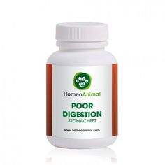 """Natural and Homeopathic remedies that helps promote a good digestive health for pets. """"Poor Digestion – StomachPET"""" is a 100% natural herbal remedy to treat digestive disorders and helps promote a good digestive health. It is a powerful antioxidant and tonic for the stomach. Good for relieving nausea and vomiting from indigestion. It soothes and protects the digestive tract."""