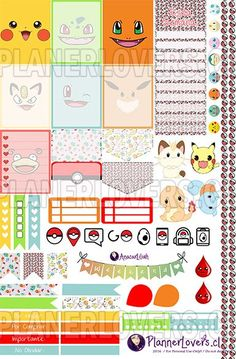 FREE Pokemon Go– Planner Stickers Printable | Anacar Lilian