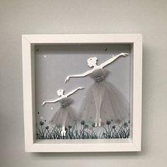 Baby Crafts, Diy And Crafts, Paper Crafts, Diy Originales, Ballerina Room, Cuadros Diy, Box Frame Art, Licht Box, Image 3d