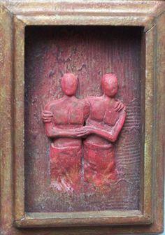 "Saatchi Art Artist Loic Le Phoque Fringant; Painting, ""Relief 3"" #art"