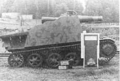 A prototype self-propelled unit with a 105mm recoilless gun on the base of the tank Strv m/40L
