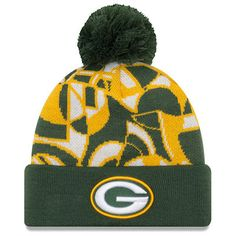f2d6cf115aa Men s New Era Green Green Bay Packers NFLxFIT Cuffed Knit Hat with Pom