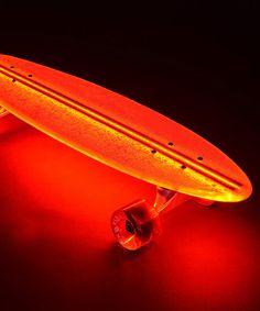 Red Lighted Skateboard by Flexdex #zulilyfinds