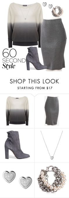 """Grey ombré"" by joyfulmum ❤ liked on Polyvore featuring Mint Velvet, Schutz, Links of London, Moschino, ombre and 60secondstyle"