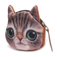 Bonitas Coins Animados Girls De Chicas Cat Dibujos Carteras Purse Bag Head Cartoon Neceser II4q0w