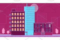 Street City Buildings. Business Infographic
