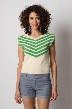 Lauren Moffatt Chevron Knit Sweater