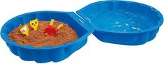 Sandboxes - 2 piece sandbox Seashell shaped design Can be used as a pool Cool Baby, X 23, Outdoor Toys, Outdoor Play, Summer Fun For Kids, Baby Gadgets, Sand Pit, Sand And Water, Baby Blog
