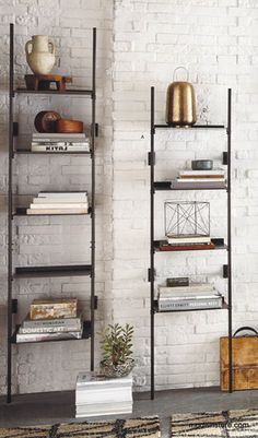 Roost conservatory shelves, patinated iron.  2 x medium will fit your space