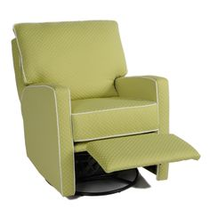 Mesa Recliner in Popcorn Citrus with White Piping