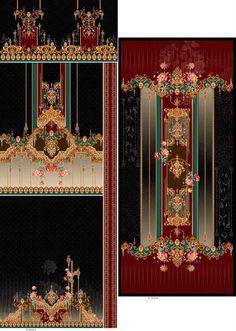 iDEAZ on Behance Computer Desks For Home, Design Seeds, Border Design, Online Boutiques, Pattern Art, Textile Design, Digital Prints, Print Design, Behance