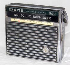 Vintage Zenith Royal 500N 8-Transistor Radio, Made In USA, Circa 1965.
