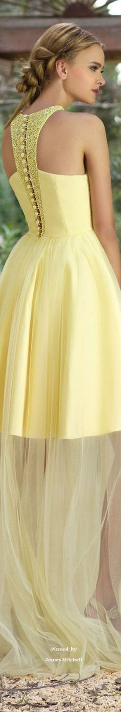 Chrystelle Atallah S/S 2016 Couture yellow maxi dress gown closet ideas fashion outfit style apparel Evening Dresses, Prom Dresses, Formal Dresses, Elegant Dresses, Beautiful Gowns, Beautiful Outfits, Mode Glamour, Yellow Fashion, Mode Inspiration