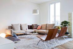 Appartement Paris on Behance Decor, Furniture, House Design, Paris Living Rooms, Contemporary Living Room White, Decor Interior Design, Interior Design, Interior Deco, Living Room Designs