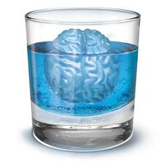 brain ice cube molds - great for halloween! bet you could fill them with chocolate, jello, ice cream etc to make all kinds of creepy halloween treats.
