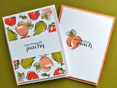 These little peaches are too cute for words. I just love Kara's style of card making.