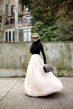 Atlantic-Pacific: float organza maxi skirt