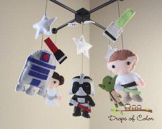 Baby Mobile Crib Star Wars Por Dropsofcolor