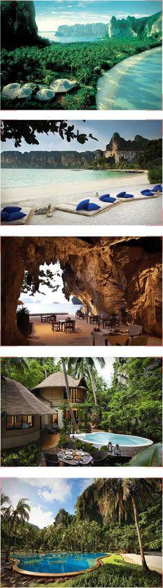 Rayavadee Resort, Thailand, honeymoon, newlyweds. #travel See the world.