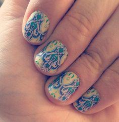 Bright deco matte  Jamberry nail wraps Manicure Katilynn.jamberrynails.net