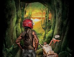 Motorcycle Art, New Work, Print Design, Behance, Check, Painting, Fictional Characters, Painting Art, Paintings