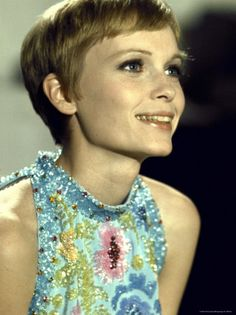 Actress Mia Farrow During Filming of the Motion Picture